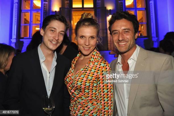 Franziska Weisz and Stefano Bernadin attend the International Emmy Award Jury Meeting at Palais Schoenborn on July 3 2014 in Vienna Austria