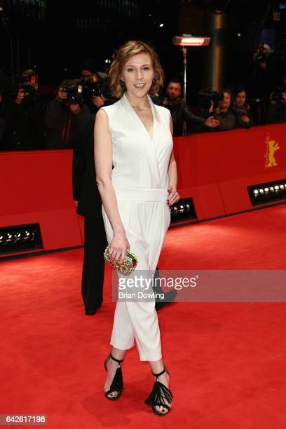 Franziska Weisz arrives for the closing ceremony of the 67th Berlinale International Film Festival Berlin at Berlinale Palace on February 18 2017 in...