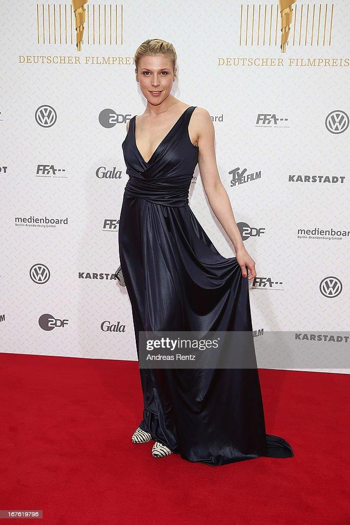Franziska Weisz arrives for the Lola - German Film Award 2013 at Friedrichstadt-Palast on April 26, 2013 in Berlin, Germany.