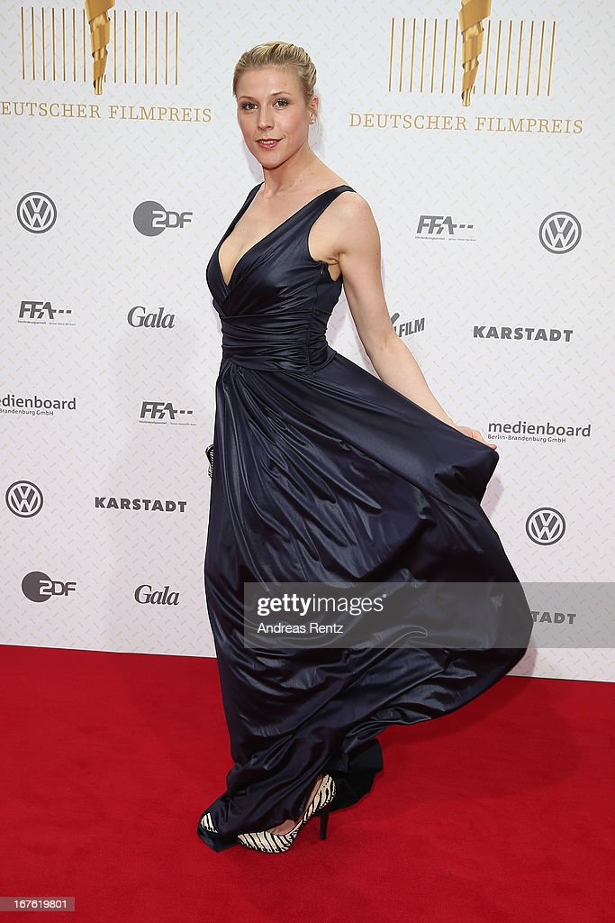 Franziska Weisz arrives for the Lola - German Film Award 2013 at Friedrichstadt-Palast on April 26, 2013 in Berlin, Germany.