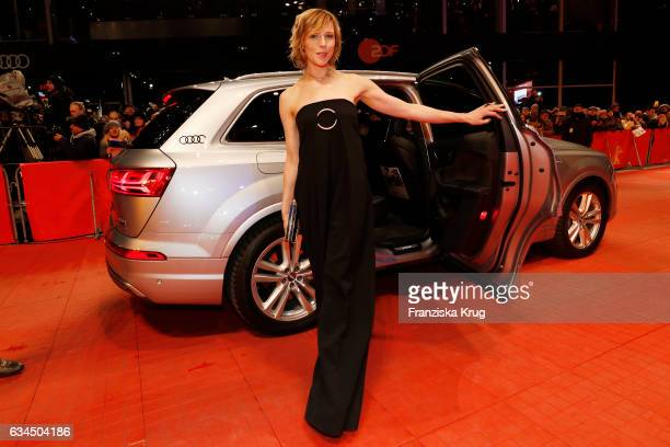Franziska Weisz attends the 'Django' premiere during the 67th Berlinale International Film Festival Berlin at Berlinale Palace on February 9 2017 in...