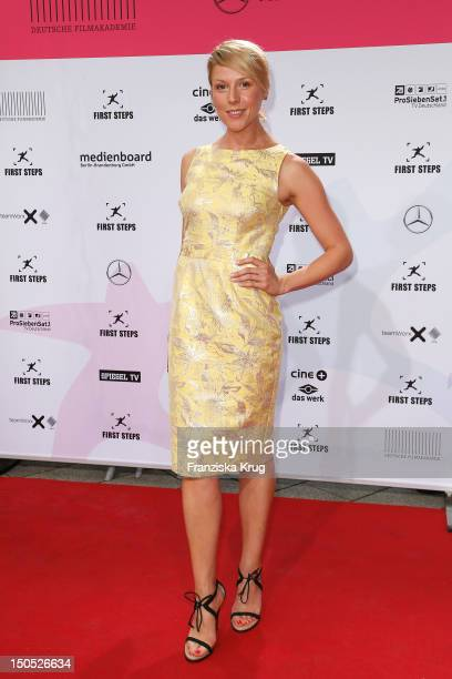 Franziska Weisz attends the 'First Step Awards 2012' in the Stage Theater Potsdamer Platz on August 20 2012 in Berlin Germany
