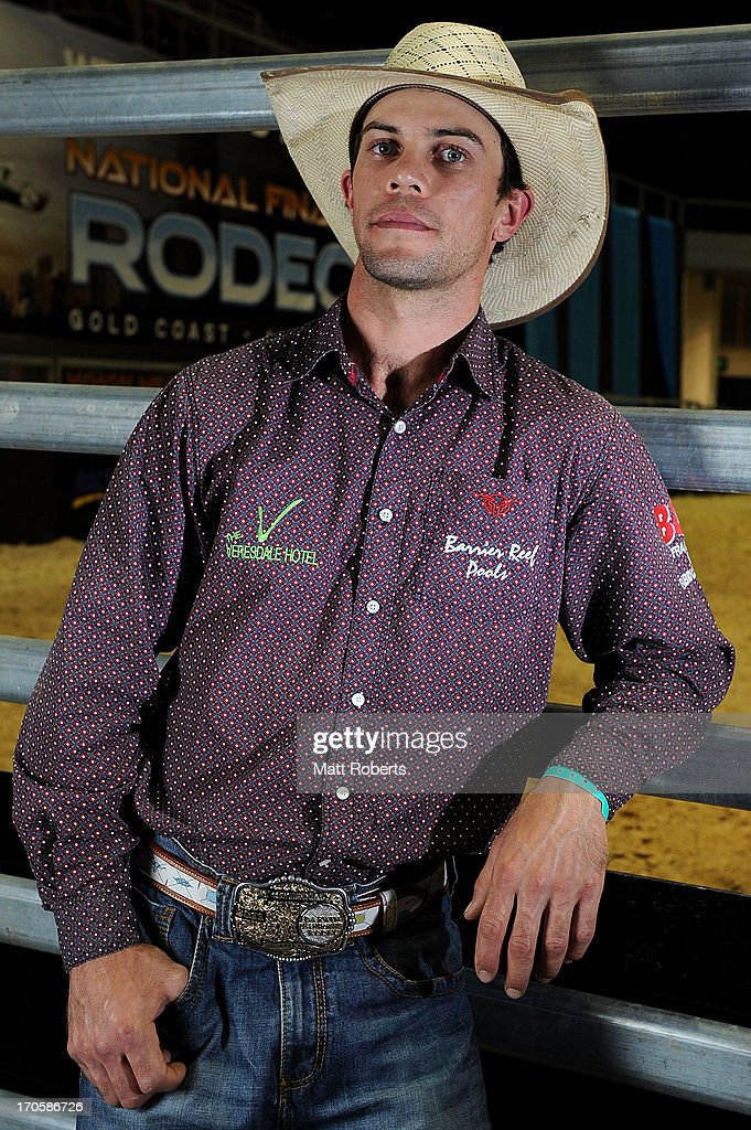 Fraser Babbington poses for a photograph during the National Rodeo Finals on June 15, 2013 on the Gold Coast, Australia.