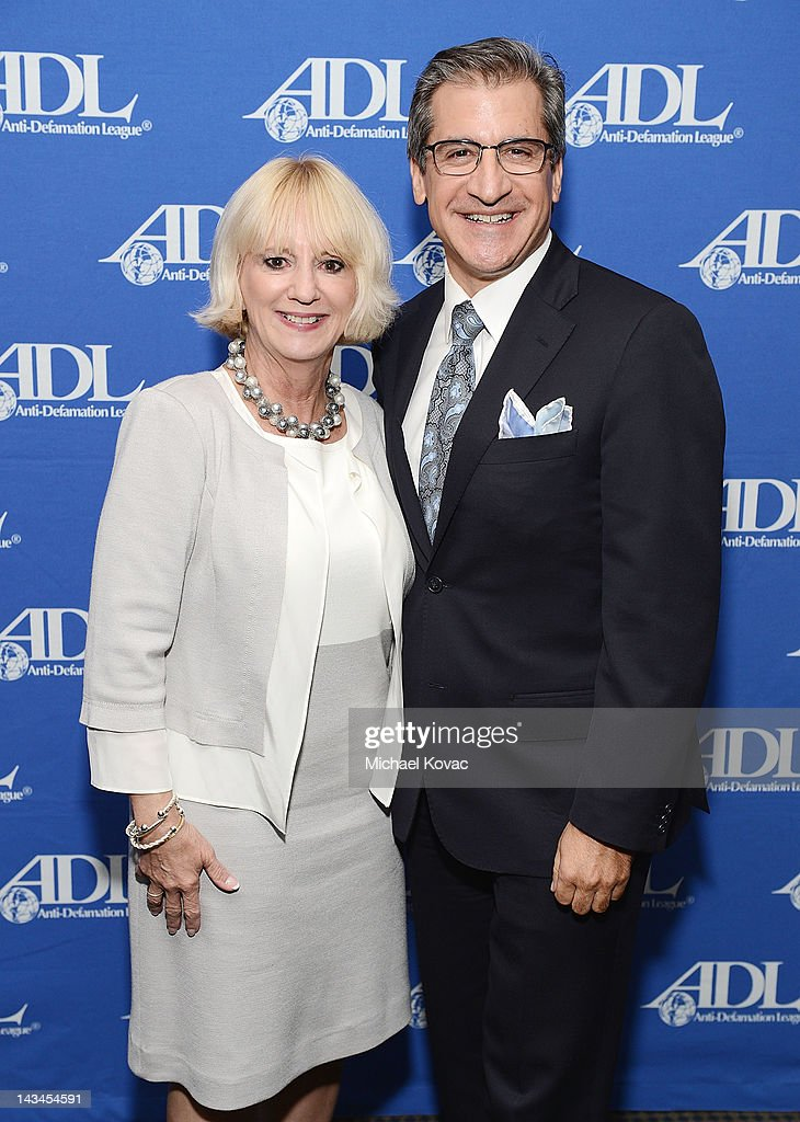 Fraser Communications CEO Renee Fraser (L) and Los Angeles Business Journal Publisher Matt Toledo attend The Anti-Defamation League Deborah Awards at the Skirball Cultural Center on April 26, 2012 in Los Angeles, California.