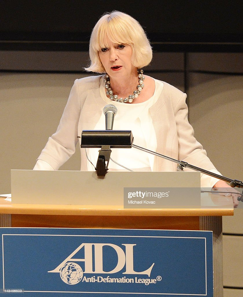 Fraser Communications CEO Renee Fraser presents onstage after receiving a Deborah Award at The Anti-Defamation League Deborah Awards at the Skirball Cultural Center on April 26, 2012 in Los Angeles, California.