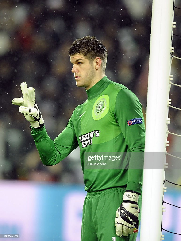 Fraser Forster of Celtic during the Champions League round of 16 second leg match between Juventus and Celtic at Juventus Arena on March 6, 2013 in Turin, Italy.