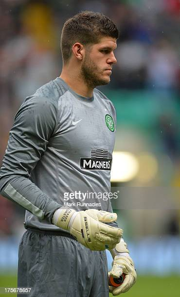 Fraser Forster of Celtic during the UEFA Champions League Third Qualifying Round First Leg match between Celtic and Elfsborg at Celtic Park Stadium...