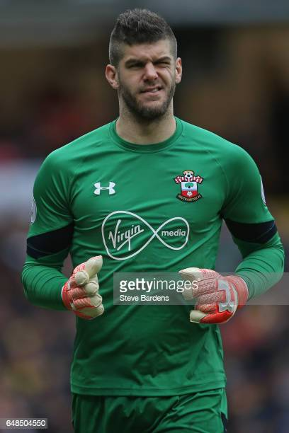 Fraser Forster of Southampton during the Premier League match between Watford and Southampton at Vicarage Road on March 4 2017 in Watford England