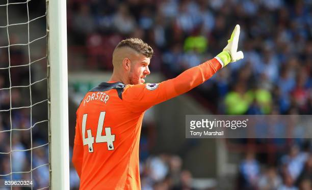 Fraser Forster of Southampton during the Premier League match between Huddersfield Town and Southampton at John Smith's Stadium on August 26 2017 in...