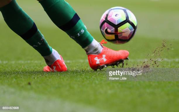 Fraser Forster of Southampton takes a goal kick during the Premier League match between Tottenham Hotspur and Southampton at White Hart Lane on March...