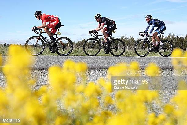 Fraser Gough of Napier makes his way to Coronet Peak from Mossburn during stage three of the 2016 Tour of Southland on November 02 2016 in...