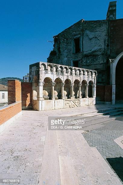 Fraterna fountain in Celestine V square 19th century Isernia Molise Italy
