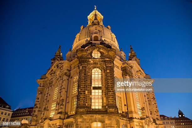 Frauenkirche, Dresden in the evening