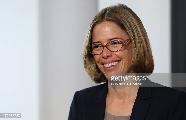 Frauke Albers spokeswoman of the regional court in Lueneburg northern Germany is pictured on April 20 2015 A trial starts on April 21 2015 in...