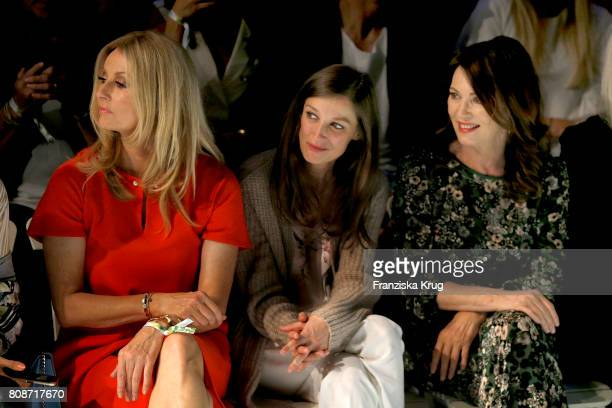 Frauke Ludowig Alexandra Maria Lara and Iris Berben attend the Marc Cain Fashion Show Spring/Summer 2018 at ewerk on July 4 2017 in Berlin Germany
