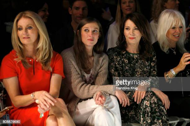 Frauke Ludowig Alexandra Maria Lara Iris Berben and Ute Schlotterer attend the Marc Cain Fashion Show Spring/Summer 2018 at ewerk on July 4 2017 in...