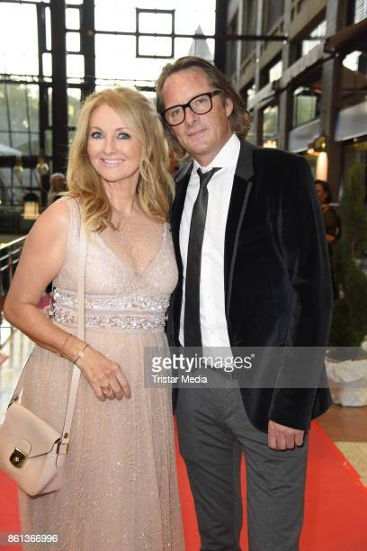 Frauke Ludowig and her husband Kai Roeffen attend the 29 KoelnBall on October 14 2017 in Cologne Germany