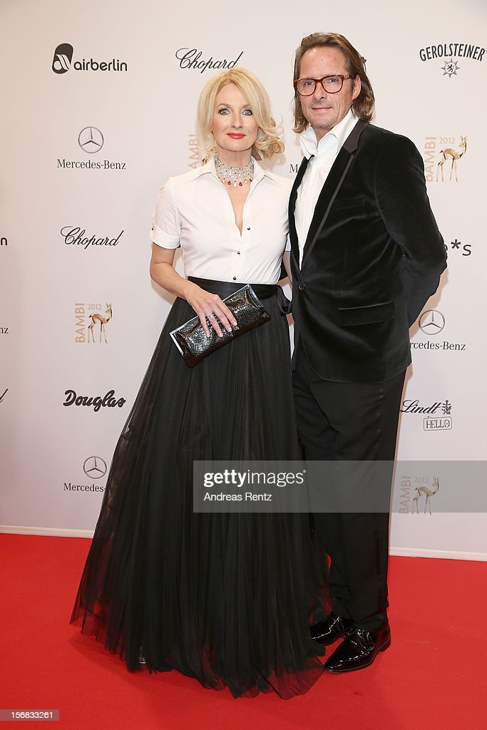 Frauke Ludowig and Kai Roeffen attends 'BAMBI Awards 2012' at the Stadthalle Duesseldorf on November 22, 2012 in Duesseldorf, Germany.