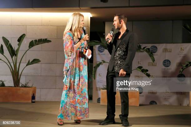 Frauke Ludowig and Marcel Remus attend the Remus Lifestyle Night on August 3 2017 in Palma de Mallorca Spain
