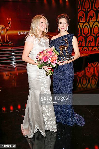 Frauke Ludowig and Princess Mary of Denmark pose after the Bambi Awards 2014 show on November 14 2014 in Berlin Germany