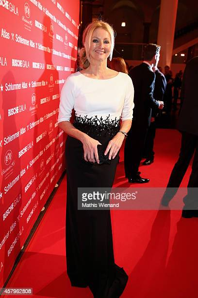 Frauke Ludowig attends the Busche Gala at K21 and Breidenbacher Hof on October 27 2014 in Duesseldorf Germany