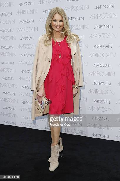 Frauke Ludowig attends the Marc Cain fashion show A/W 2017 at Deutsche Telekom representation on January 17 2017 in Berlin Germany