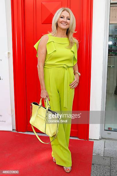 Frauke Ludowig during the 'Stargefluester' photo call at Hair Beauty Galerie on August 23 2015 in Munich Germany