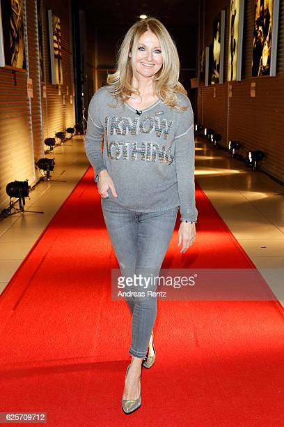 Frauke Ludowig is seen in the studio of the RTL Telethon TV show on November 25 2016 in Cologne Germany The telethon is held every year and is on air...