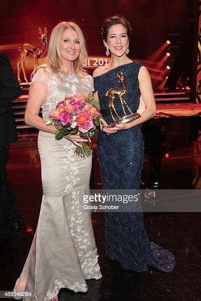 Frauke Ludowig wearing a dress of MeissenCouture Crown Princess Mary of Denmark during the Bambi Awards 2014 show on November 13 2014 in Berlin...