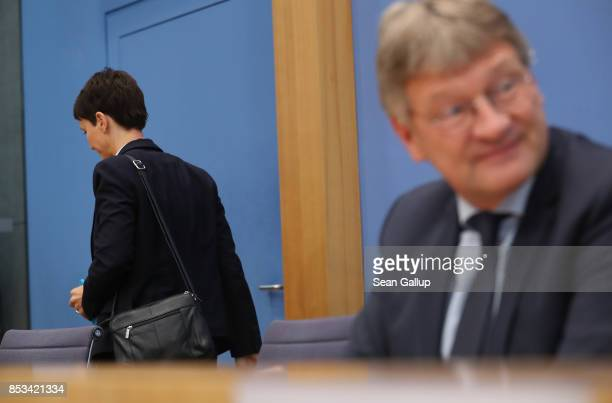 Frauke Petry a leading member of the rightwing Alternative for Germany departs after announcing she will not join the new AfD Bundestag faction but...