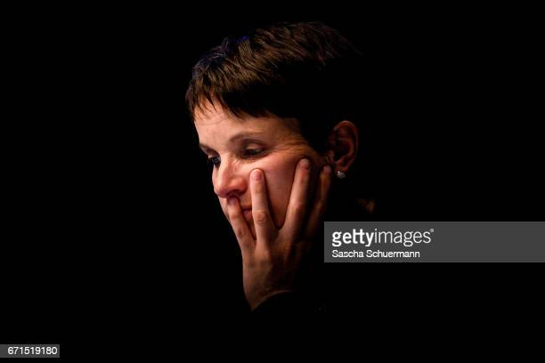 Frauke Petry Chairwoman of the AfD looks on during the federal congress of the rightwing populist Alternative for Germany political party on April 22...
