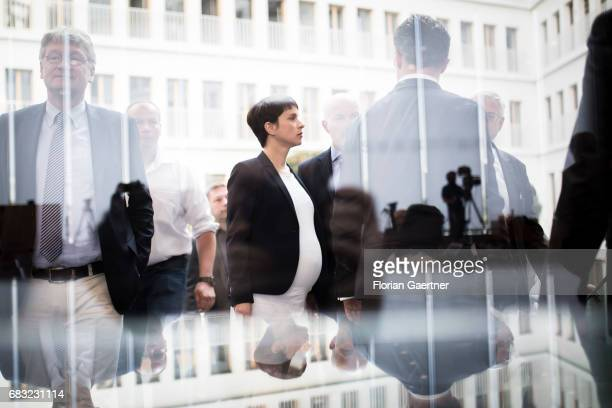 Frauke Petry Chairwoman of the Alternative fuer Deutschland political party is captured before a press conference on May 15 2017 in Berlin Germany