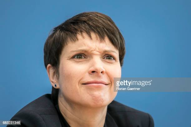 Frauke Petry Chairwoman of the Alternative fuer Deutschland political party is captured during a press conference on May 15 2017 in Berlin Germany