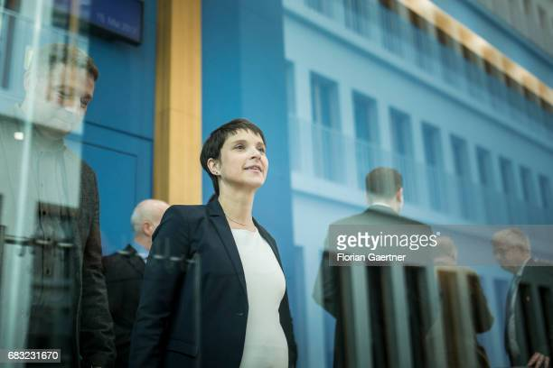 Frauke Petry Chairwoman of the Alternative fuer Deutschland political party is captured after a press conference on May 15 2017 in Berlin Germany