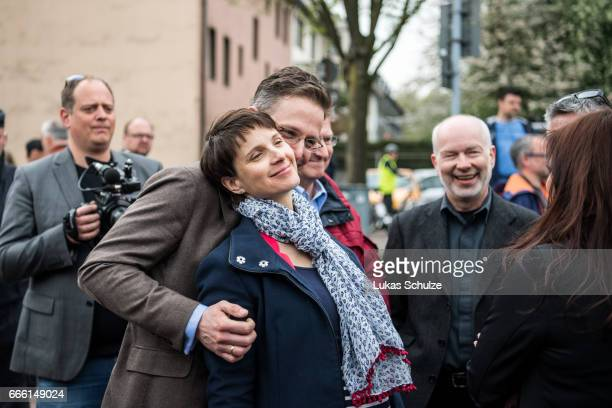 Frauke Petry head of the Alternative fuer Deutschland rightwing populist political party and her husband Marcus Pretzell Alternative fuer Deutschland...