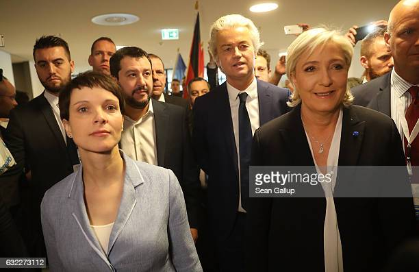 Frauke Petry leader of the Alternative for Germany political party Matteo Salvini leader of the Italian Lega Nord political party Geert Wilders...