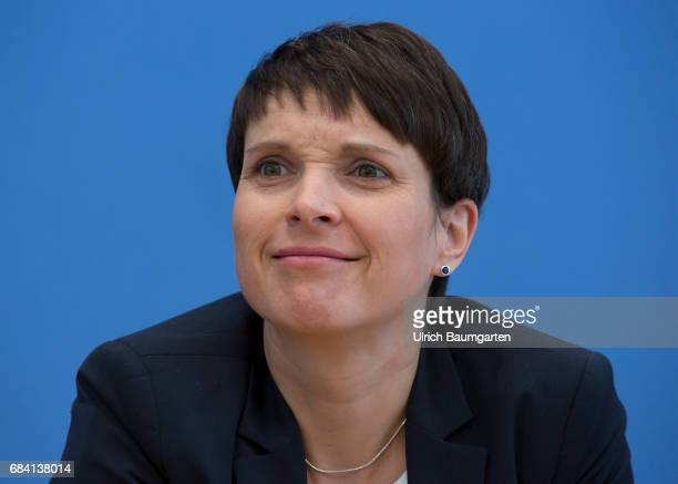 Frauke Petry spokeswoman of the AfD during the Federal Press Conference in Berlin