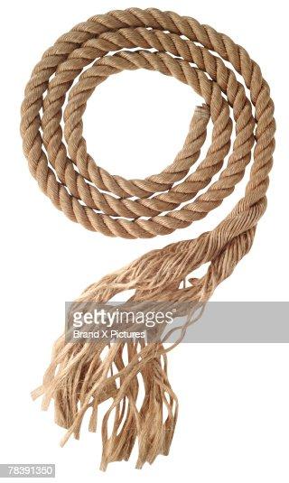 Frayed rope : Stock Photo