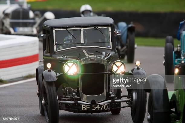 Frazer Nash Saloon 'The Owlet' driven by entrant Patrick BlakeneyEdwards in the Brooklands Trophy at Goodwood on September 8th 2017 in Chichester...