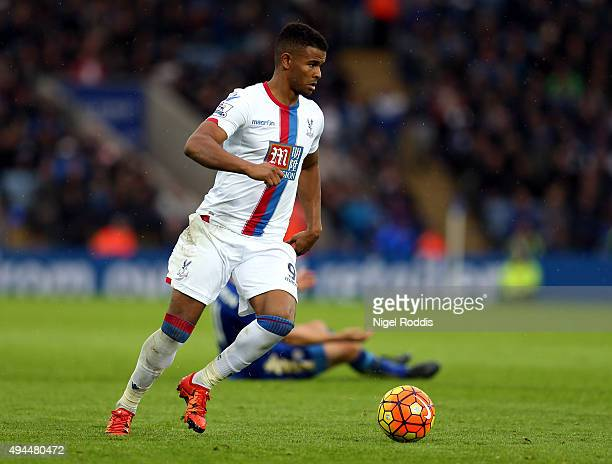 Frazier Campbell of Crystal Palace during the Barclays Premier League match between Leicester City and Crystal Palace at The King Power Stadium on...