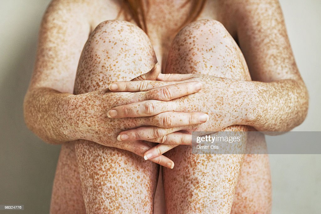Question interesting, little girl legs with freckles you