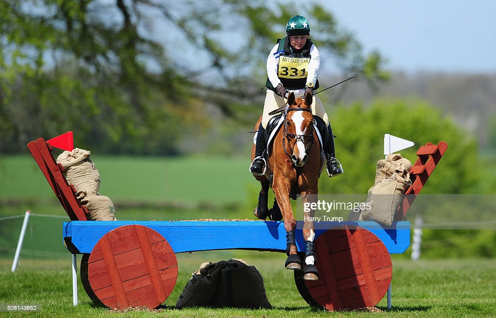 Freckleton Matador ridden by Steph Woolley make their way around the course during the Mitsubishi Motors Cup Cross Country Race during Day One of the Badminton Horse Trials on May 4, 2016 in Badminton, Untied Kindom.