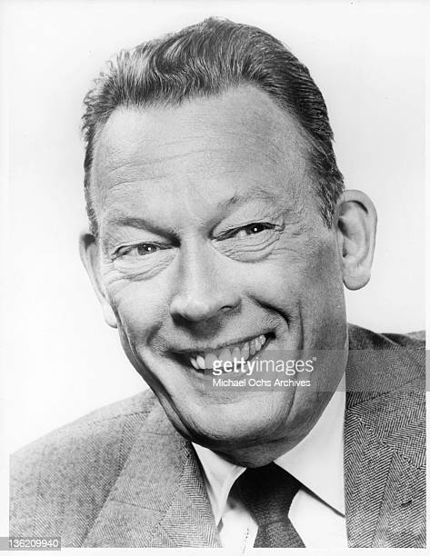 Fred Allen publicity portrait from the television series 'Colgate Comedy Hour' 1953