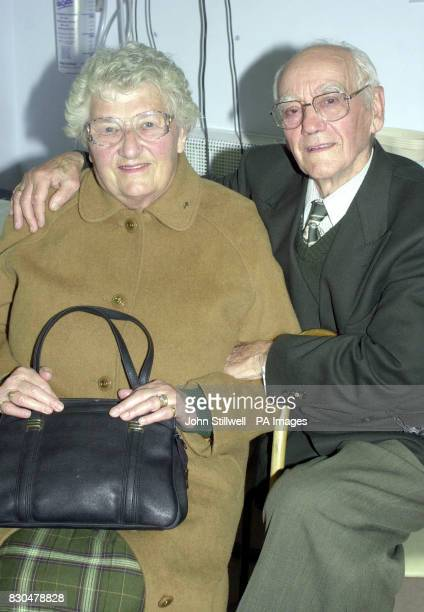 Fred and Doris Parker from New Eltham in South London at the Queen Elizabeth Hospital in Welwyn Garden City They were passengers on the Kings Cross...