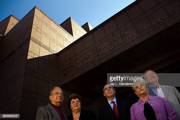 Fred and Jean Colton left Daniel Fink and Sharron and Harry Lerman live in the neighborhood surrounding the Museum of Tolerance on Pico Avenue in Los...