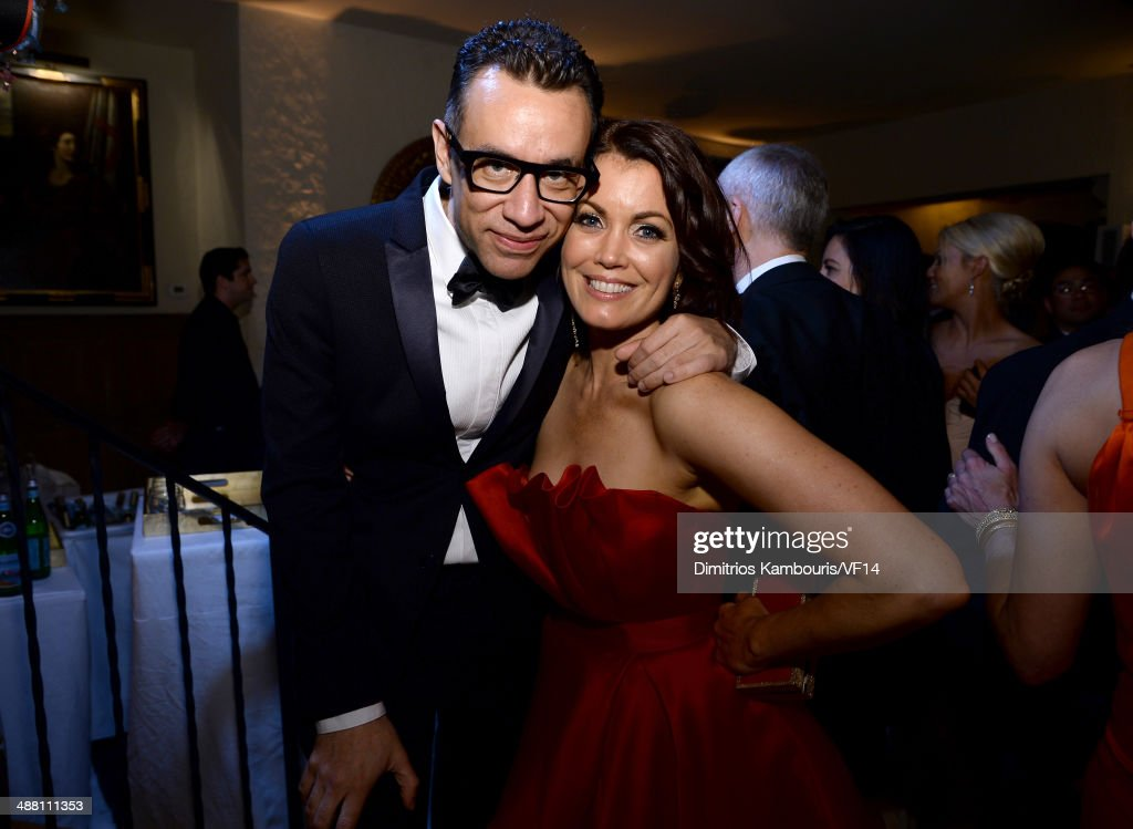 <a gi-track='captionPersonalityLinkClicked' href=/galleries/search?phrase=Fred+Armisen&family=editorial&specificpeople=221426 ng-click='$event.stopPropagation()'>Fred Armisen</a> (L) and <a gi-track='captionPersonalityLinkClicked' href=/galleries/search?phrase=Bellamy+Young&family=editorial&specificpeople=4135230 ng-click='$event.stopPropagation()'>Bellamy Young</a> attend the Bloomberg & Vanity Fair cocktail reception following the 2014 WHCA Dinner at Villa Firenze on May 3, 2014 in Washington, DC.