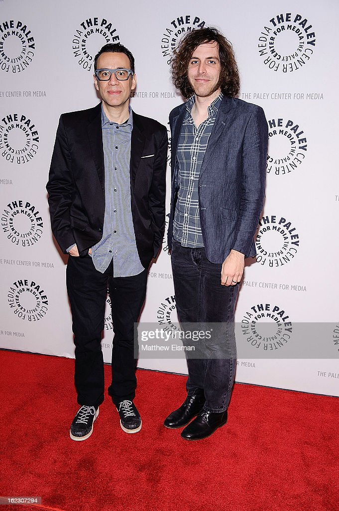 <a gi-track='captionPersonalityLinkClicked' href=/galleries/search?phrase=Fred+Armisen&family=editorial&specificpeople=221426 ng-click='$event.stopPropagation()'>Fred Armisen</a> (L) and Jonathan Krisel attend The Paley Center for Media Presents: 'Dream Of...An Evening with <a gi-track='captionPersonalityLinkClicked' href=/galleries/search?phrase=Fred+Armisen&family=editorial&specificpeople=221426 ng-click='$event.stopPropagation()'>Fred Armisen</a>' at Paley Center for Media on February 21, 2013 in New York City.
