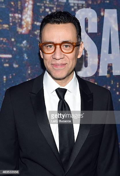 Fred Armisen attends SNL 40th Anniversary Celebration at Rockefeller Plaza on February 15 2015 in New York City