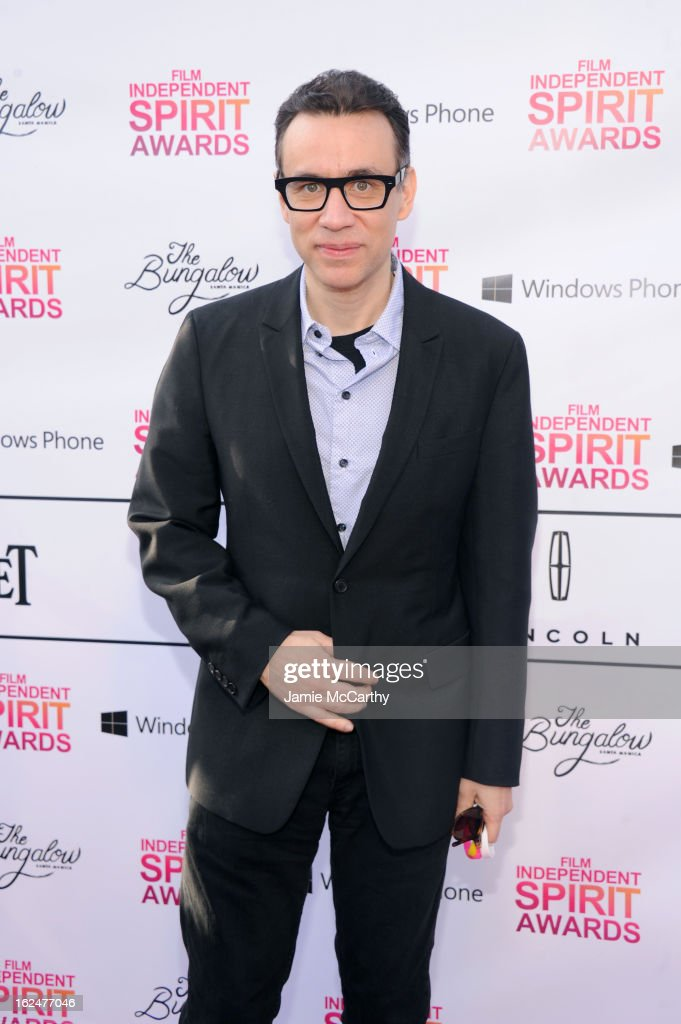 <a gi-track='captionPersonalityLinkClicked' href=/galleries/search?phrase=Fred+Armisen&family=editorial&specificpeople=221426 ng-click='$event.stopPropagation()'>Fred Armisen</a> attends the 2013 Film Independent Spirit Awards After Party hosted by Microsoft Windows Phone at The Bungalow at The Fairmont Hotel on February 23, 2013 in Santa Monica, California.