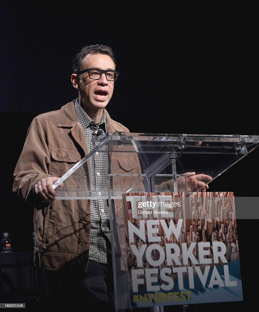 <a gi-track='captionPersonalityLinkClicked' href=/galleries/search?phrase=Fred+Armisen&family=editorial&specificpeople=221426 ng-click='$event.stopPropagation()'>Fred Armisen</a> attends The New Yorker Festival 2013 - An Evening With Funny Or Die Hosted By Billy Eichner at Acura at SIR Stage37 on October 5, 2013 in New York City.